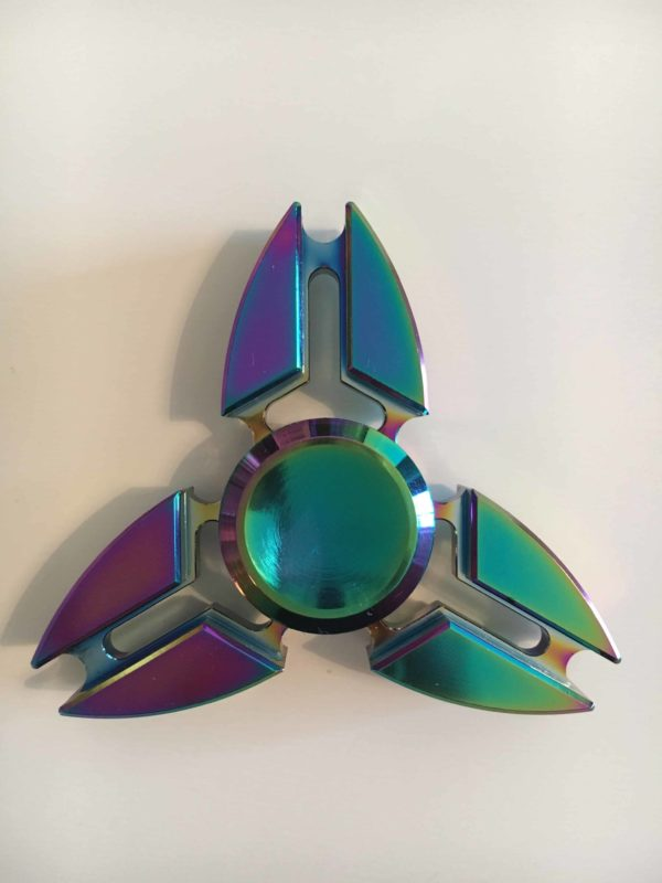 hand spinner metal multicolore rainbow
