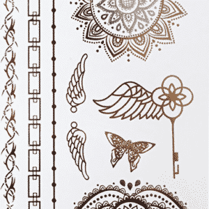 tatouage ephemere dore lotus