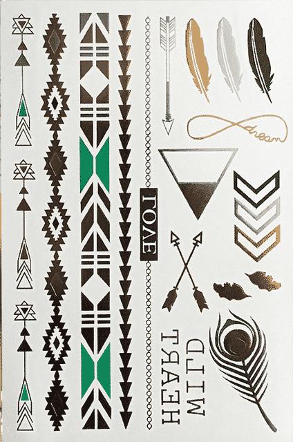 tatouage ephemere dore wild