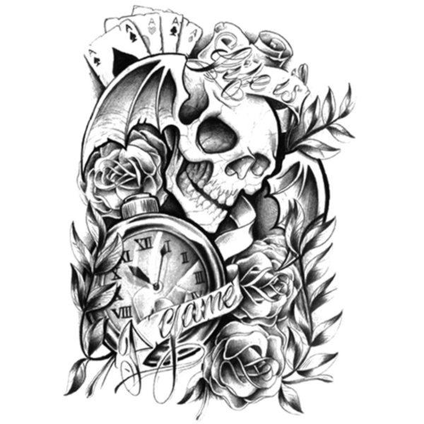 tatouage ephemere life is a game