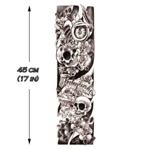 tatouage manchette tattoo ephemere skulls sleeve bras