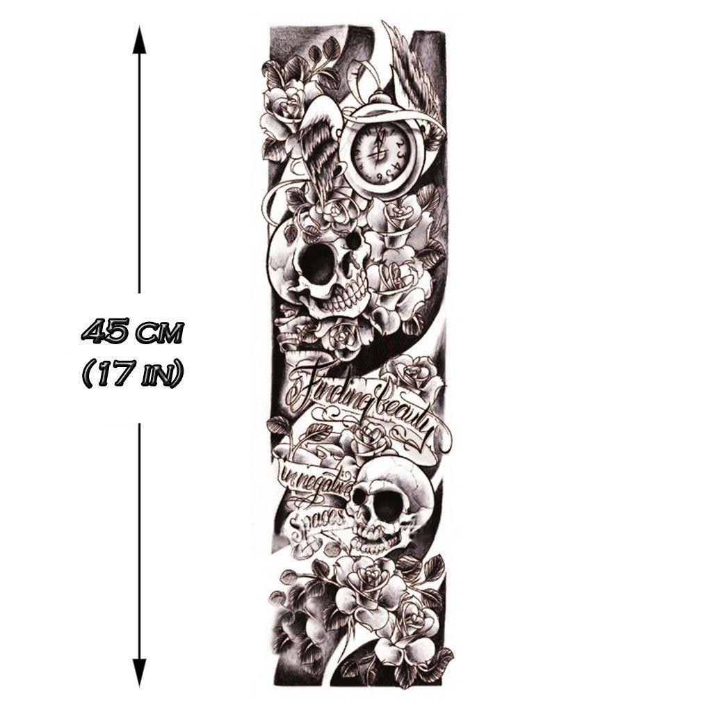 Tatouage Ephemere Homme Skulls Sleeve Tattoo Routine